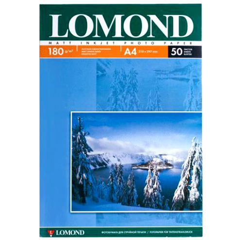 0102014 бумага LOMOND (A4 180гр 50л) Photo Матовая 1стор.